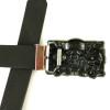 Ceinture Hombre Rock Punk Hebillas De Metal Skull Belt Buckle Accessories with PU Leather Belts Skull Head Buckles For Men Belts