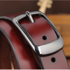 2017 new Women's strap genuine leather casual all-match Women brief leather belt women's strap belt  students pure color belts