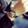 Woman Mens Retro Design Leather Band Analog Alloy Quartz Wrist Watch 2016 New Arrival Ladies Casual Bracelet Watch
