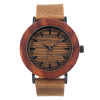 2017 BOBO BIRD Luxury Brand Womens Watches Genuine Leather Strap Wood Watch for Ladies Gifts Relogio Masculino C-K20