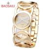 JW089 BAOSAILI  Brand Imitation Gold Plated Circles Strap Stainless Steel Back Shinning Women Watches Fashion Wrist Watch