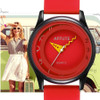 AFFUTE Brand Fashion Casual Candy Red Silicon Rubber Strap Womens Sport Quartz Analog Watches Female Girls Lady Wristwatch Clock