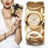 BAOSAILI Brand Imitation Gold Plated Circles Strap Stainless Steel Back Shinning Women Bracelet Watches Fashion Wrist Watch