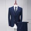 (Jacket+Vest+Pants) Men's suits 2017 new style Men's casual fashion wool suit Men high quality wool wedding suits