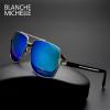 High Quality Square Sunglasses Men Polarized UV400 Fashion Sunglass Mirror Sport sun glasses Oversized Driving Gold frame oculos