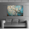 100% Handmade Large Flowers Wall Pictures Home Decorative Painting On Canvas White Plum Blossom Paintings Living Room Decor Gift