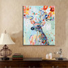 Diy Oil Painting By Numbers Wall Art Picture Home Decor Sika Deer Acrylic Paint On Canvas For Artwork Handmade Animal Painting