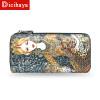 DICIHAYA Women Zipper Wallets Animal Print Wallets Genuine Leather Purse Ladies' Clutches Hand Bags Long Card Holders Phone Bag