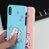 JAMULAR Cute Cartoon Rabbit Fitted Case For iphone X 10 Skin Matte Hard Back Cover For iphone 6 6sPlus 7 8Plus Capinha Phone Bag