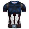 Captain America Spiderman 3D Printed T-Shirts Men Compression Shirt Short Sleeve Crossfit Tops G ym Bodybuilding T Shirt Anime