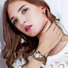 Duoya Popular Brand Watch Women 2017 Gold Elephant Pendant Luxury Bracelet Watch Lucky Female Girl Casual Electronic