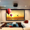 79-inch Diag. 16:10 4K Ultra HD Ready HDTV Fixed Frame Home Theater projection projector Screen with cinema white