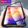 Metal Magnetic Adsorption Case For Xiaomi 9 8 SE Mi 8 Lite F1 Redmi 7 6A 6X Note 7 6 5 Pro Tempered Glass Back Magnet Case Cover