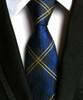 New Silk Classic Stripes Red Black White Blue Mix Color JACQUARD WOVEN Silk Men's Tie Necktie T4