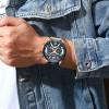 Curren Mens Watches Top Brand Luxury Chronograph Men Watch Leather Luxury Waterproof Sport Watch Men Male Clock Man Wristwatch