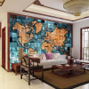 Customized size European Style 3D World Map Photo Mural Wallpaper for Living Room Study Room Abstract Art Decor Wallpaper