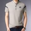 2019 New Fashion Brands Designer Polo Shirt Men Mandarin Collar Summer Short Sleeve Slim Fit Striped Polos Casual Men Clothes
