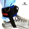 2pcs D-ring Ankle Anchor Belt Gym Cable Attachment Leg Strap Fitness latex resistance bands set stretch crossfit Training Unisex