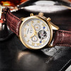 BINSSAW 2018 Men Luxury Brand Tourbillon Mechanical Fashion Casual Leather Business Sports Automatic Watch Relogio Masculino