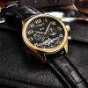 BINSSAW Mens Luxury Brand Automatic Mechanical Watches Sports Tourbillon Genuine Leather Fashion WristWatch Relogio Masculino
