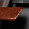 Luxury Genuine Leather Phone Case for Apple iPhone 11 Pro Max Crocodile Grain Cow Hide Cover Fashion Plain Business