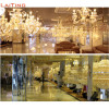 Laiting Lighting Classic Gold Empire Simple Crystal Chandeliers Living Room Light Fixture for Diwali Decoration