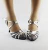DILEECHI Winter and Autumn Quality pearl net Latin modern dance shoes Ballroom dancing shoes soft outsole Tango Waltz shoes