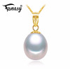 FENASY 18K Gold peandant pearl Jewelry necklaces & pendant for lovers brand party pearl pendants send s925 silver necklaces