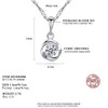 CZCITY Fine Jewelry Cubic Zirconia Rose Flower Classic 925 Sterling Silver Pendant Necklace Women Chain Necklace Jewelry Gift