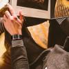 Luxury Ceramic square watches for mens couple clocks black men's quartz wristwatches waterproof man relojes