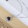 Mopera Necklace Women Sterling Silver 925 Jewelry Animal Cat Crystal Natural Sapphire Trendy Necklaces & Pendants Fine Jewelry