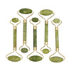 1pc 4 Sizes Facial Massage Roller Plate Double/Single Heads Jade Stone Massager Eye Face Neck Thin Lift Relax Slimming Tools