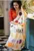 Mulmul Linen cotton Saree with Banglori Satin Blouse