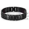 """Rainso Unique Mens Health Bracelet Multi Row 4 Elements Therapy Bracelet  Charm Black Titanium Bangles 8""""  OTB-1537BK-1"""