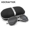 HDCRAFTER Aviator Sunglasses Men Polarized Sun Glasses For Men fashion UV400 driving outdoor sunglasses with box