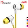 50pcs/lot Wholesale Langsdom JM21 stereo earphones with Microphone Super Bass 3.5mm Earphone For iphone 6s xiaomi mobile phones