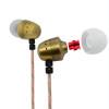 MGHUAKAI Original Metal Stereo Earphone Wired Earpiece 3.5mm In-ear Earphone Earbud with Microphone Wholesale