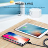 ROCK QI Wireless Charger Power Bank 8000mah with Digital Display 5V 2A 5W External Battery Powerbank for iphone X Samsung Xiaomi