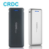CRDC Quick Charge Mini Power Bank 20000mAh Dual USB Portable Fast Charger Powerbank for iPhone Samsung Phones External Battery