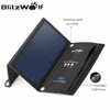 BlitzWolf 15W Solar Power Bank Portable Dual USB Charger Solar Panel Mobile Phone Charger 2A Universal For iPhone For Samsung