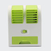 Mini Portable USB Fan Cooling Portable Desktop Dual Bladeless Small Air Conditioner Fans  Air Cooling Fan for Office and Home