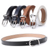 Women Belt Cummerbunds Belts For Women Dress Apparel Lady Belt Waist Pu Leather Black Women's Belts & Cummerbunds Sliver Buckle