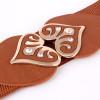 wide pu leather heart shape rhinestone designer Elastic belts for women,Elastic Tight High Waist Slimming Shaping girdle Bands