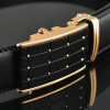 2017 Smooth Automatic Buckle Belts For Men Famous Brand Solid Strap Genuine Leather Belt Good Quality Waistband Cummerbunds