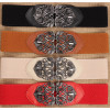 women belts vintage metal Hollow flower buckle elastic wide belts & cummerbunds wedding designer waist belt