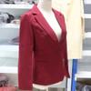 PEONFLY Ladies Blazers 2018 New Fashion Single Button Blazer Women Suit Jacket bule/red Blaser Female Blazer Femme