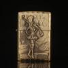 Free shipping Cigarette Accessories Portable bronze color oil lighter Cheaper Emboss Network game characters Kerosene lighters