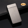 Classic Inovation Double arc Lighter Windproof Electronic USB Recharge Lighter Cigarette Smoking Electric Lighter 15 colors