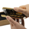 Gold Metal Cigarette Case Box with Windproof Electronic Rechargeable USB Cigarette Lighter ,Hold 20 pieces cigarette