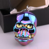 Fashion Skull Electronic USB Lighters With Key Ring Windproof Rechargeable For Cigar Cigarette Smoking Gadget Gift Box For Men